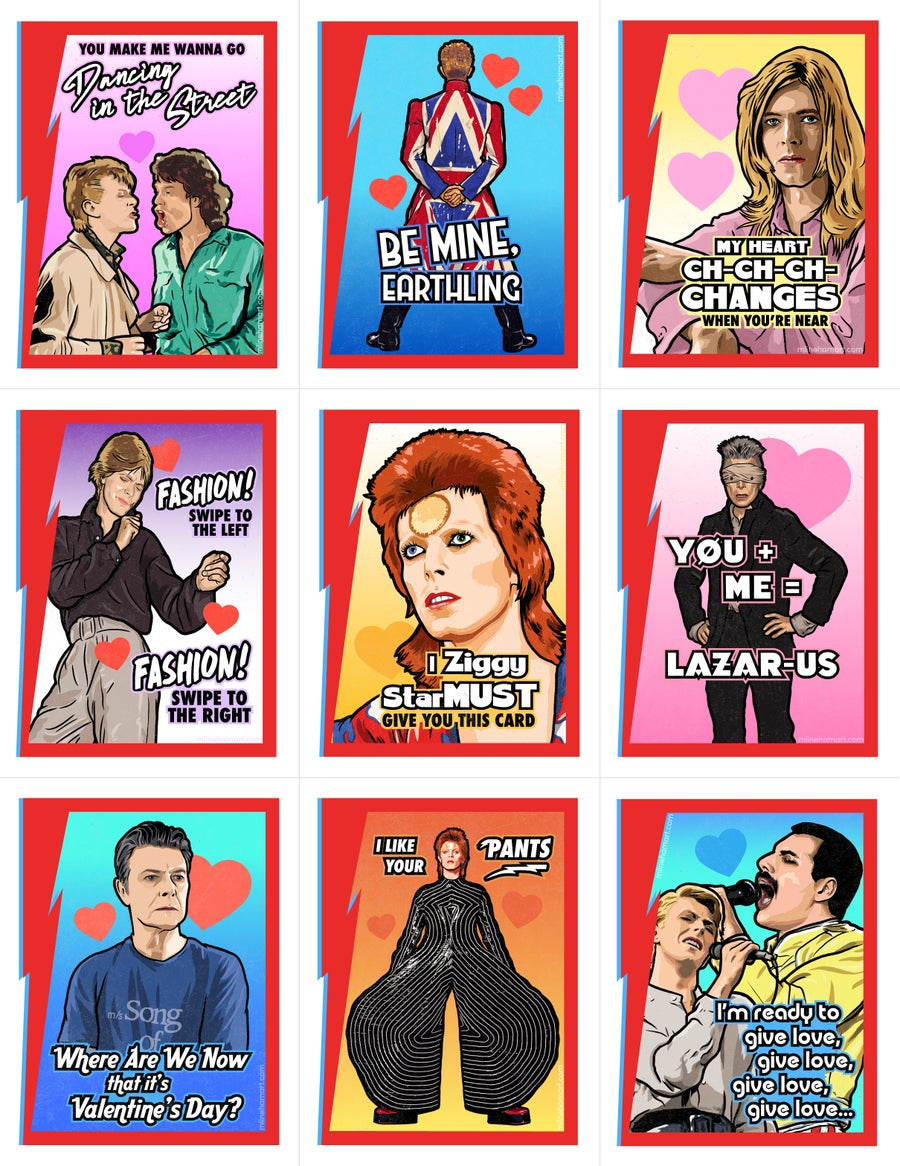 Image of Bowie Valentine's Day Card Pack (2018)
