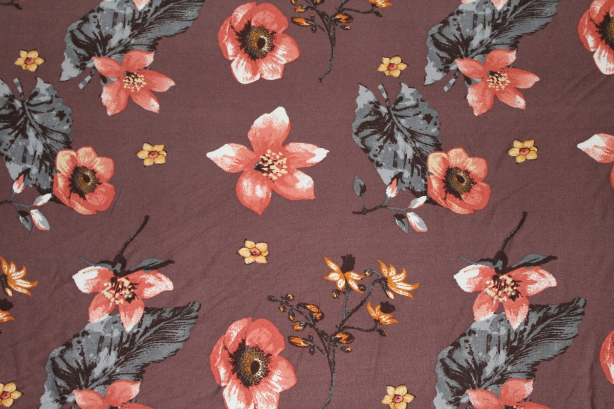 Image of Lilah Floral Print - Toffee