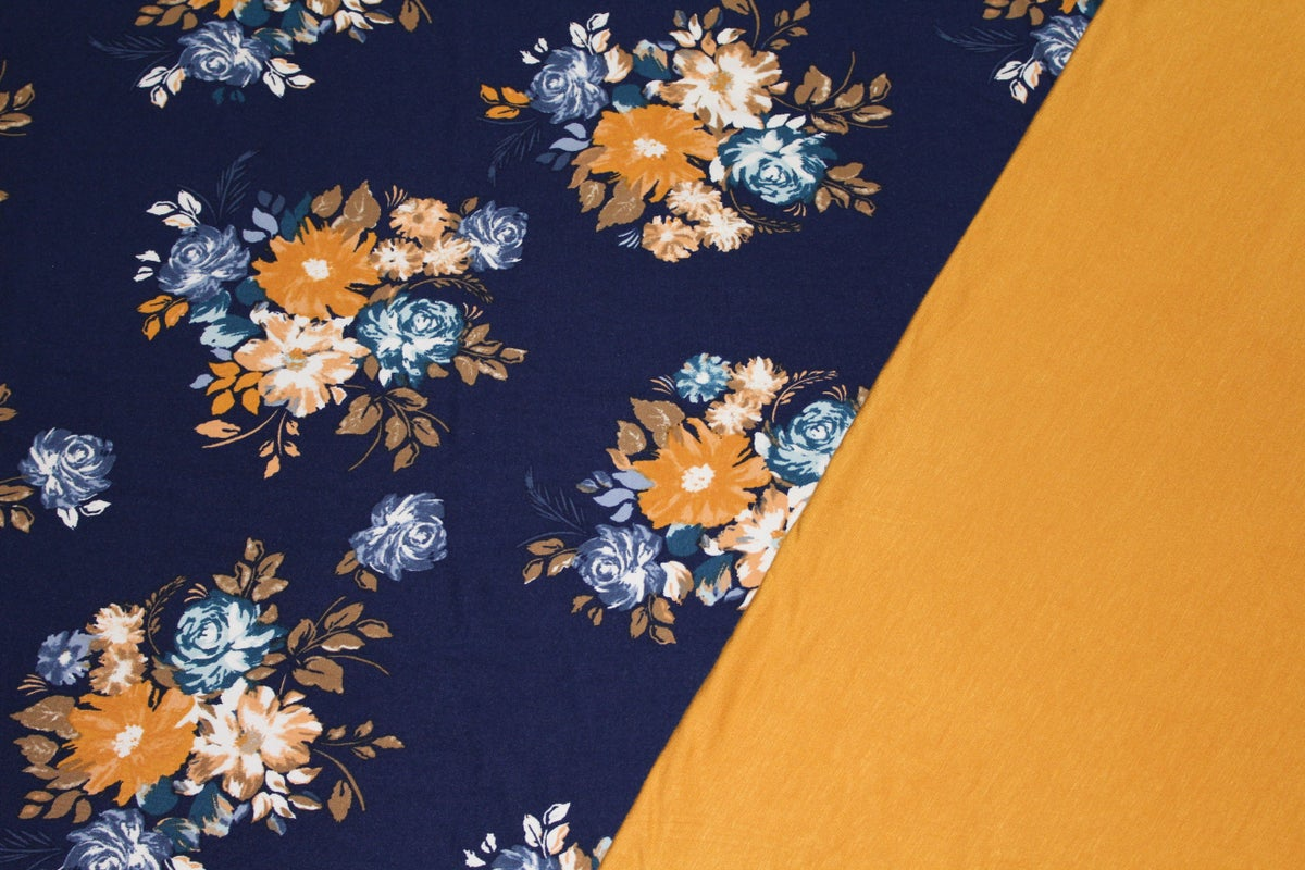Image of Tessa Floral Print - Navy