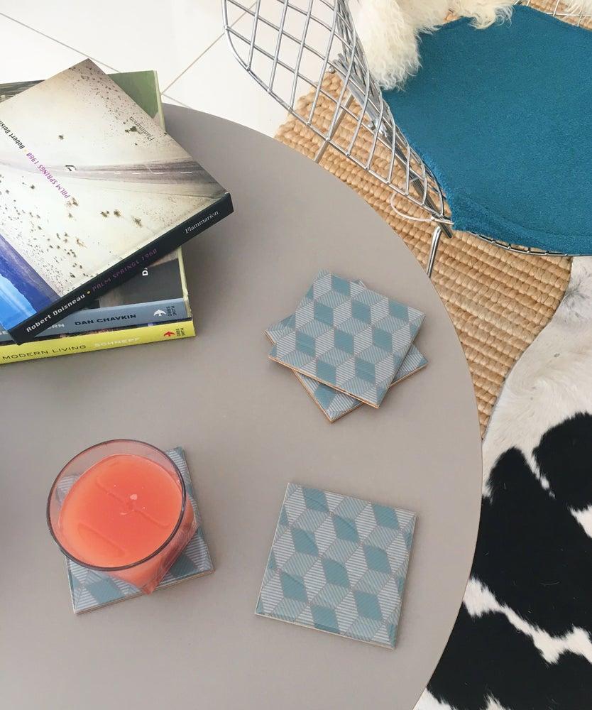 Image of Blue Icon Coasters