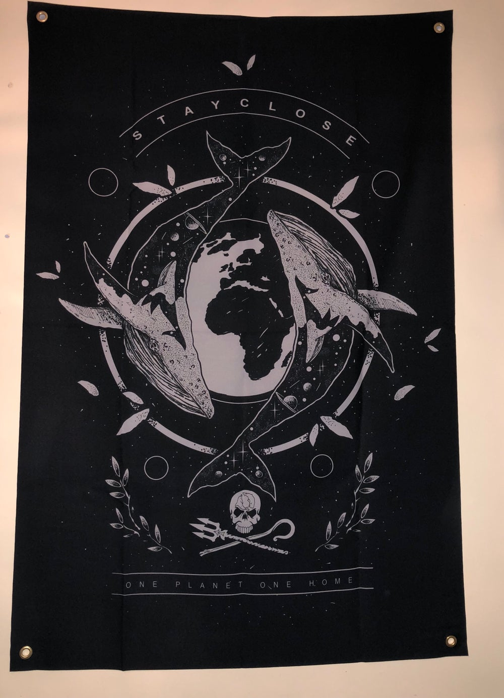 Image of Whale wall flag