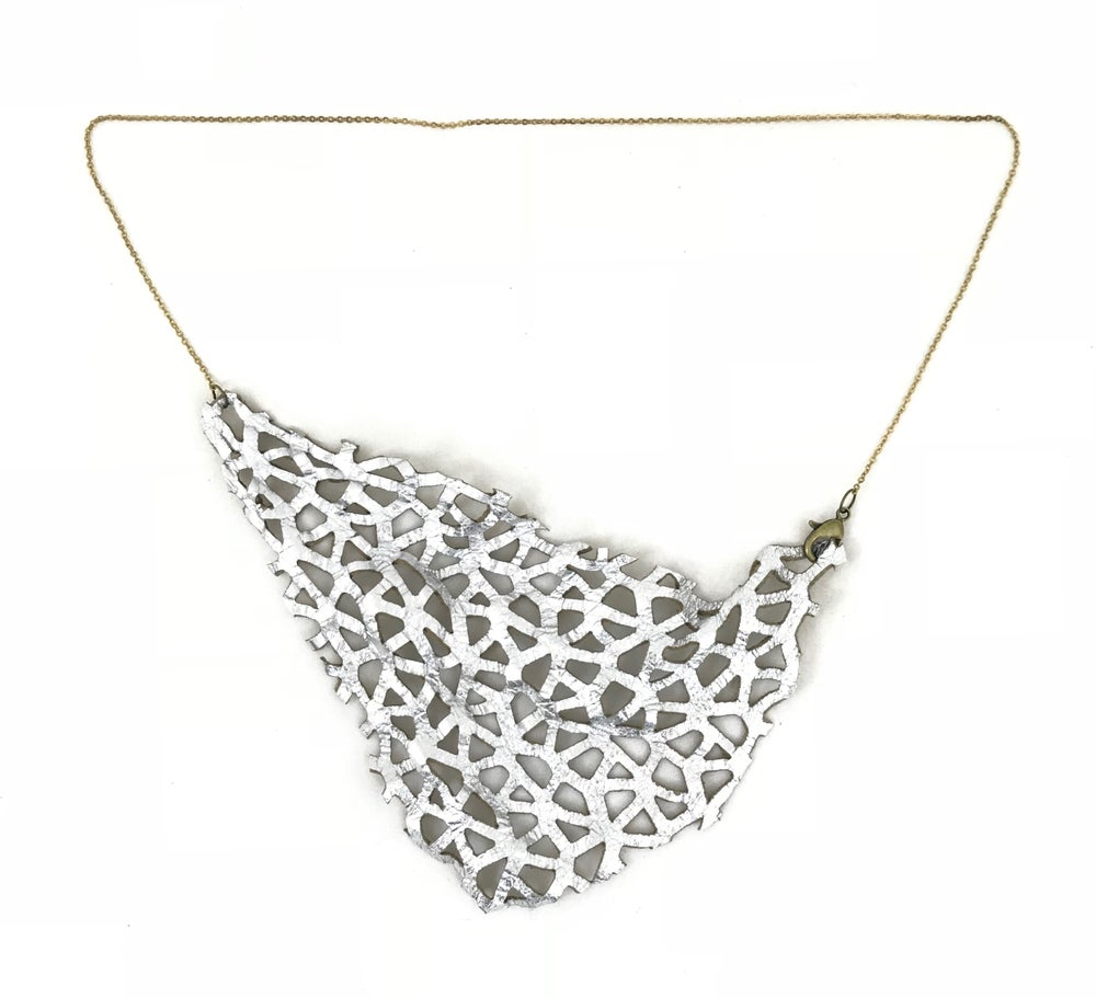 Image of laser cut necklace (silver)