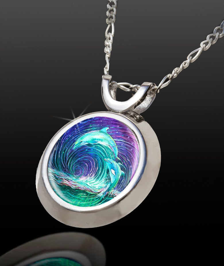 Image of Dolphin Dance Energy Pendant