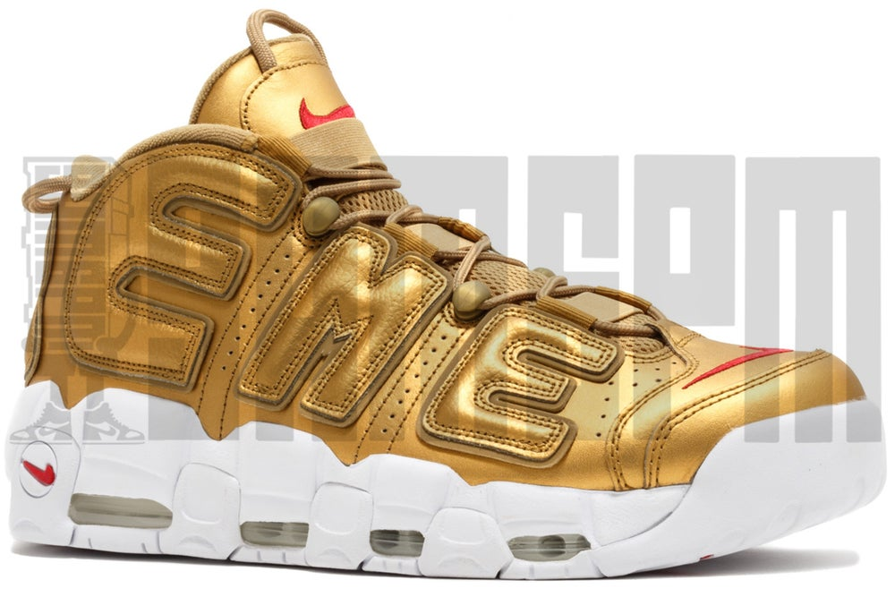"""Image of Nike AIR MORE UPTEMPO """"SUPREME GOLD"""""""