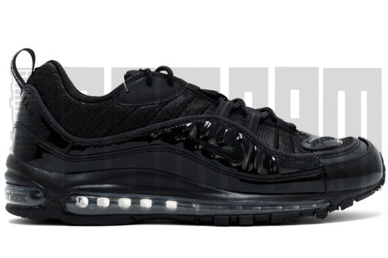 "Image of Nike AIR MAX 98 ""SUPREME BLACK"""