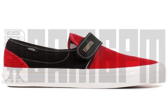 "Image of Vans SLIP-ON 47 V DX ""FEAR OF GOD RED/BLACK"""