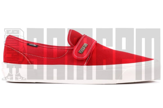 "Image of Vans SLIP-ON 47 V DX ""FEAR OF GOD RED"""