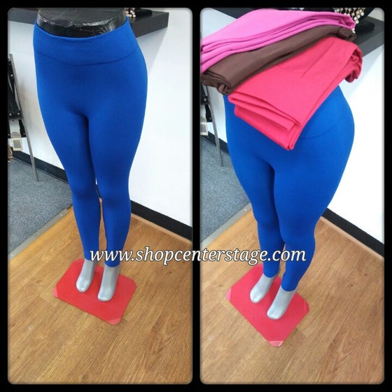 Image of Solid thick leggings
