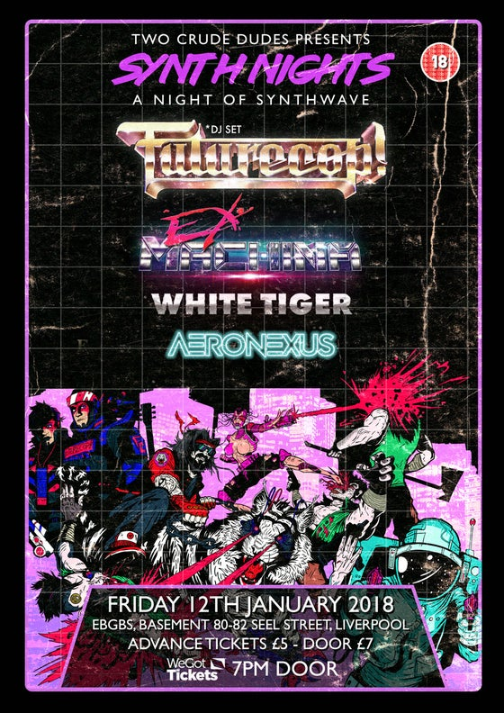 Image of Syntnights 1 gig poster!