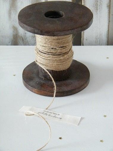 Image of Etiquette coton écru imprimée