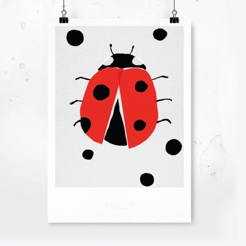 Image Of Art Print   Ladybird With Dots / Affordable Art Prints / Archival  Quality /