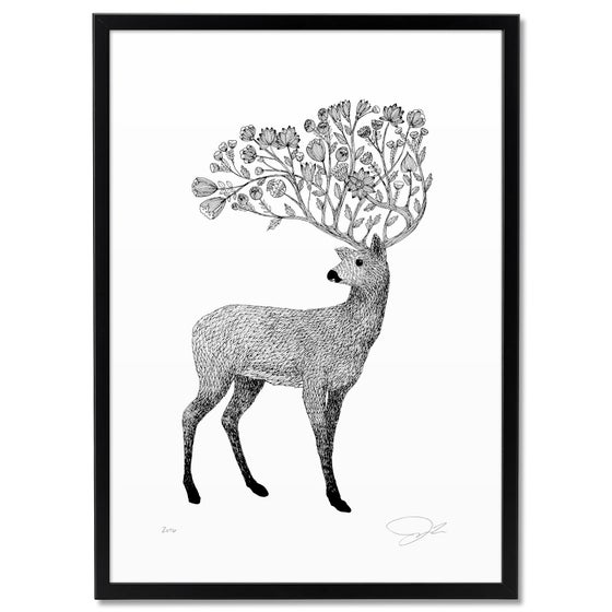 Image of Print: Flowery Deer