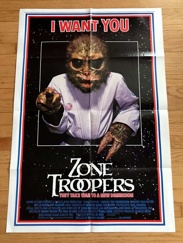 Image of 1985 ZONE TROOPERS Original U.S. One Sheet Movie Poster