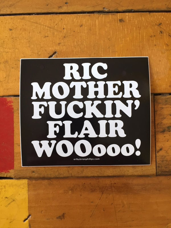 Image of RIC MOTHER FUCKIN' FLAIR - Sticker • FREE SHIPPING!