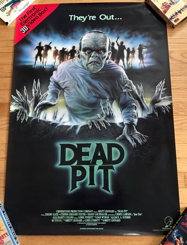 Image of 1989 DEAD PIT Original Imperial Entertainment Video Promotional Movie Poster