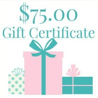 Image of $75.00 Gift Certificate
