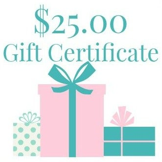 Image of $25.00 Gift Certificate