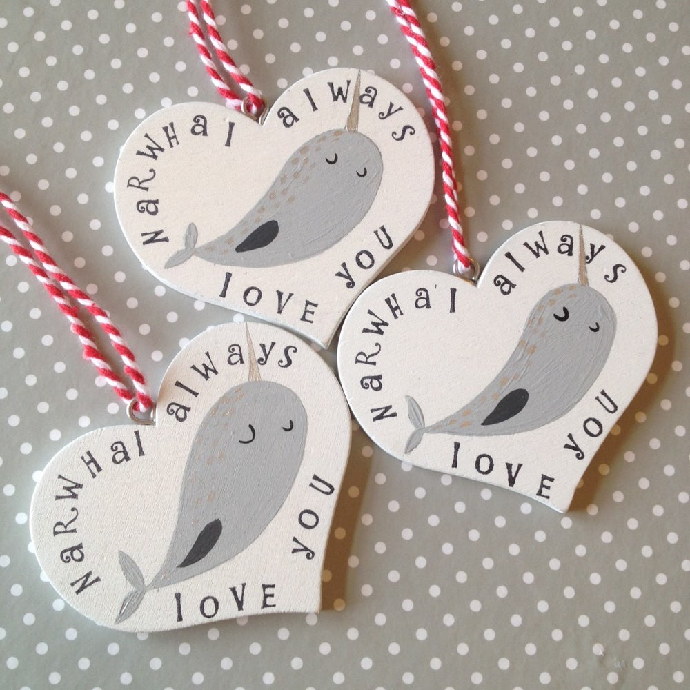 Image of Narwhal Valentines Decoration