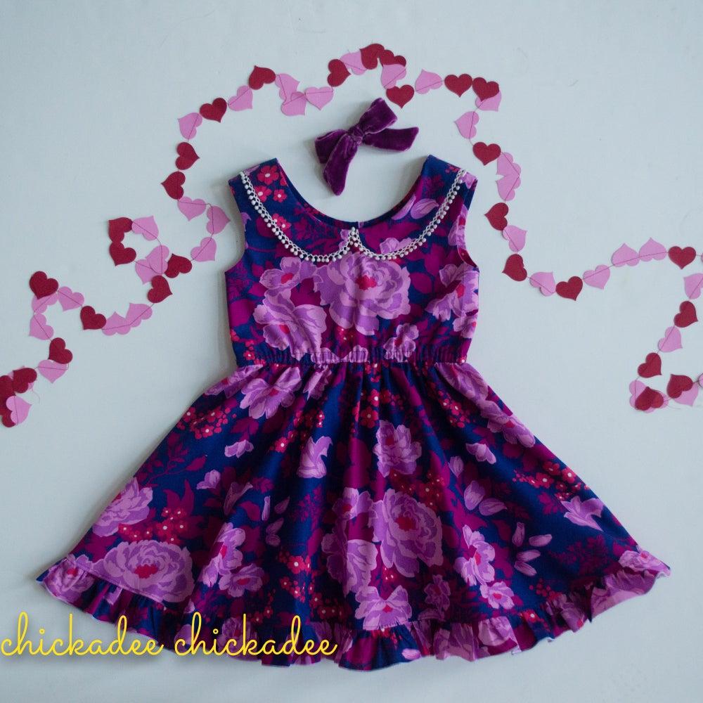 Image of Plum Perfect twirly dress
