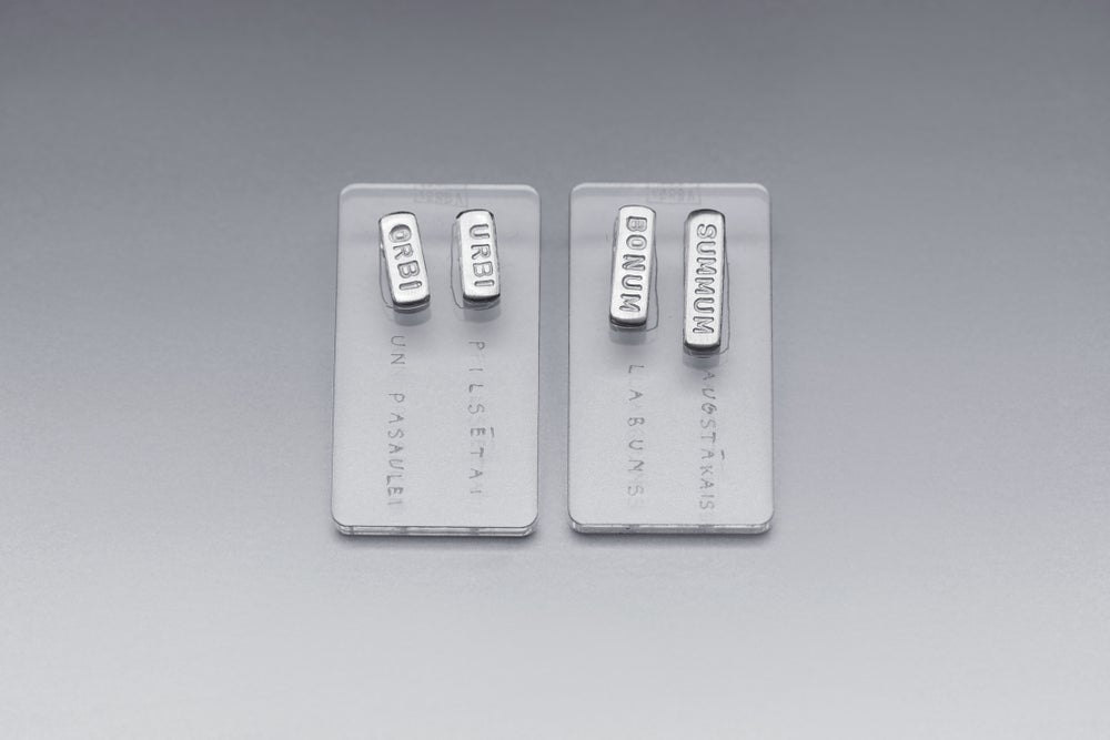 Image of classical silver earrings