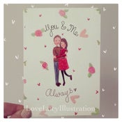 Image of Personalised Couple Portrait Card