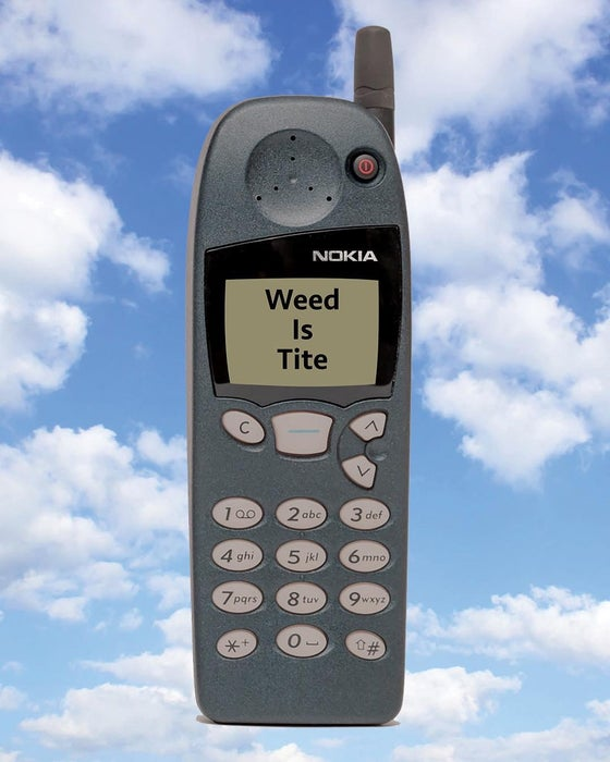 Image of Weed Is Tite print