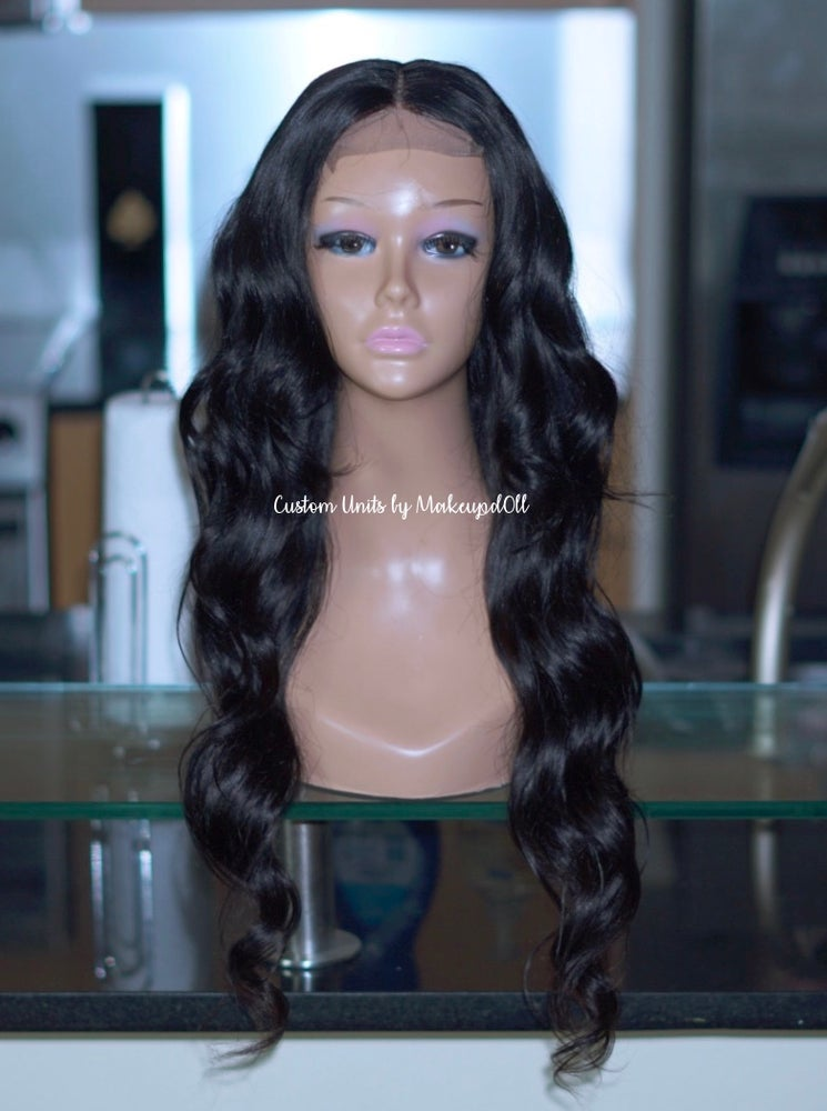 """Image of Indian Natural Wave 22"""" Lace Closure Custom Wig!"""
