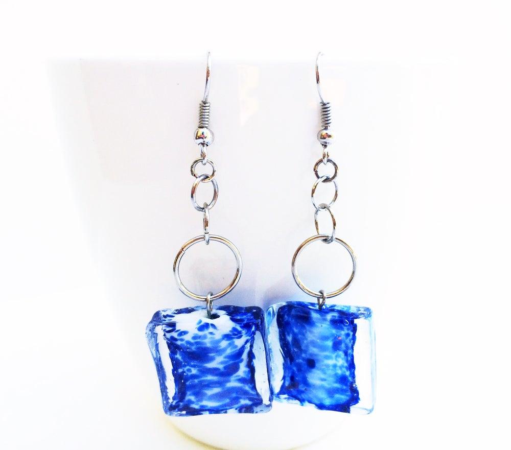 Image of Ocean Glass Earrings