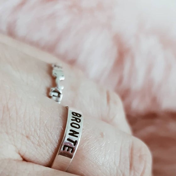 Image of Personalised Silver Band Ring