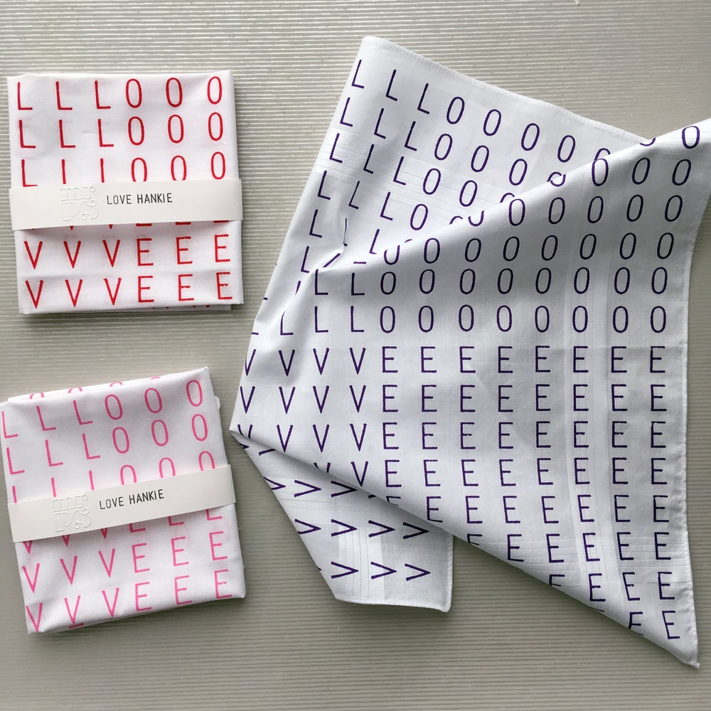 Image of LOVE hankie