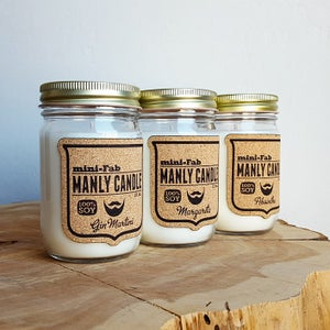 Image of Manly Candle - Margarita Scented Natural Soy Man Candle Hand Poured with Cotton Wick
