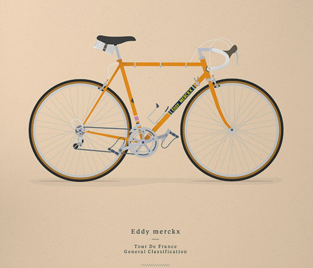 Image of Merckx's Molteni A3 print LIMITED EDITION - by Parallax