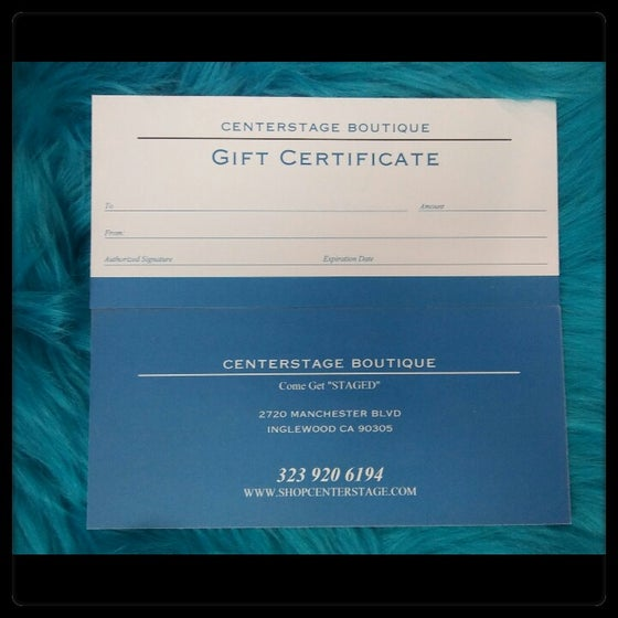 Image of Centerstage gift cards