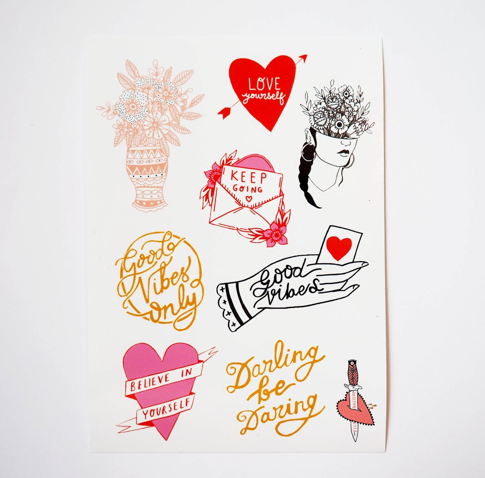Image of Good vibes sticker pack