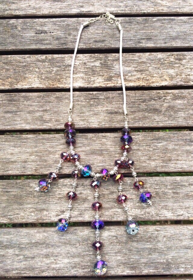 Image of Crystal Grape Juice Necklace