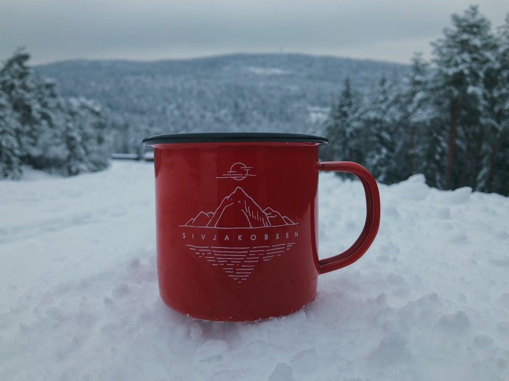 Image of The Nordic Mellow Red Enamel Mug