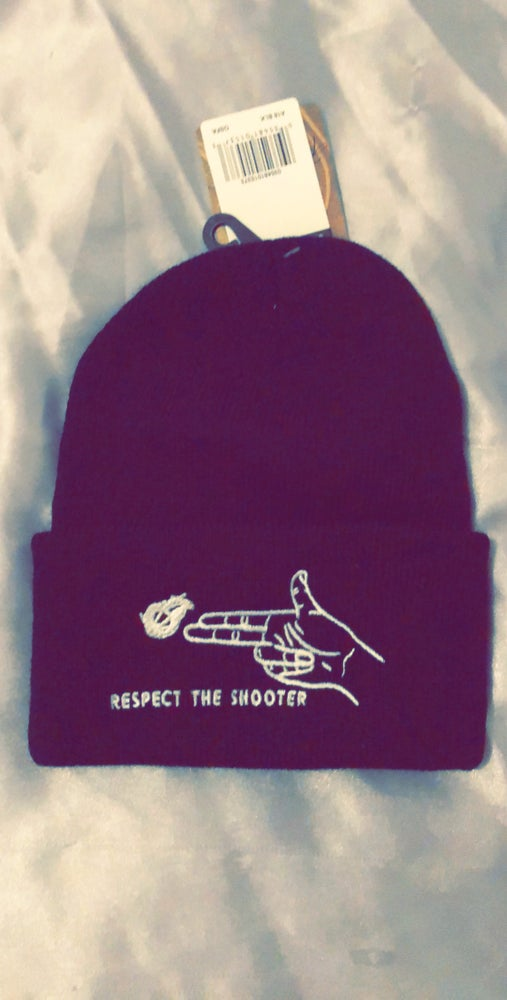 """Image of Respect The Shooter """"Beanie/Skully"""" Black"""