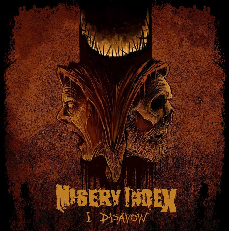 "Image of Misery Index ""I Disavow"" 7"" VIT051 in Black or Bone White Preorder Feb 2"