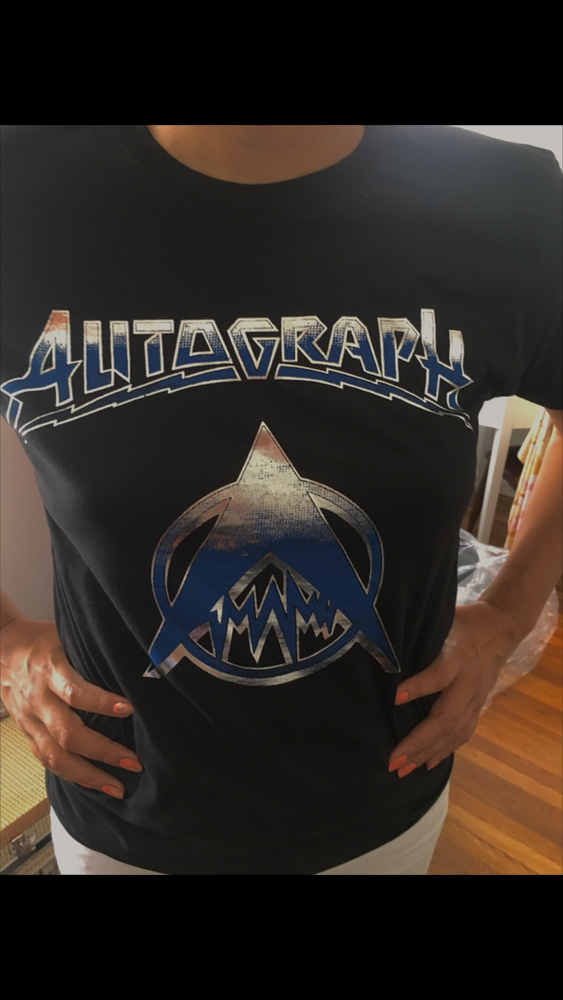 Image of CLASSIC T-SHIRT WITH SILVER FOIL PRINT