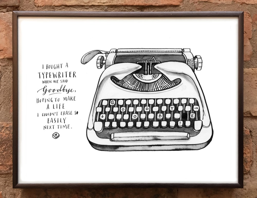 Image of Andrea Gibson Print: 'Typewriter' / A4
