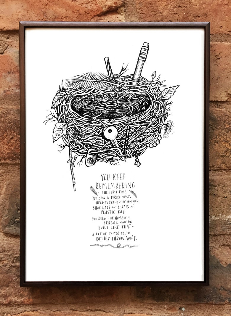 Image of Andrea Gibson Print: 'Nest' / A4