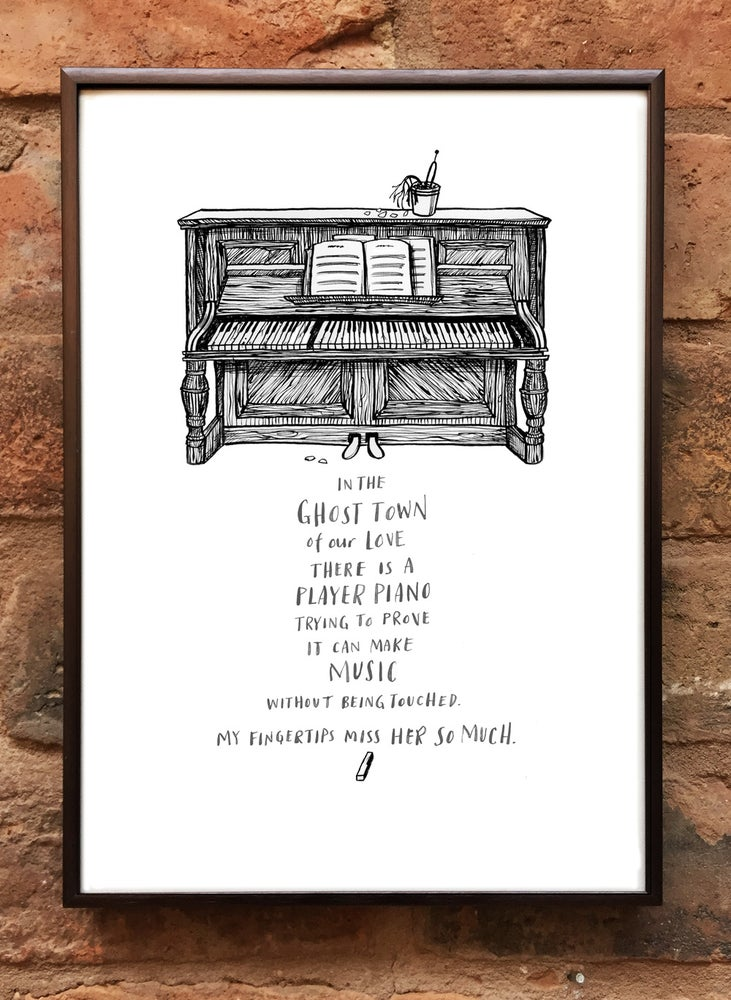 Image of Andrea Gibson Print: 'Piano' / A4