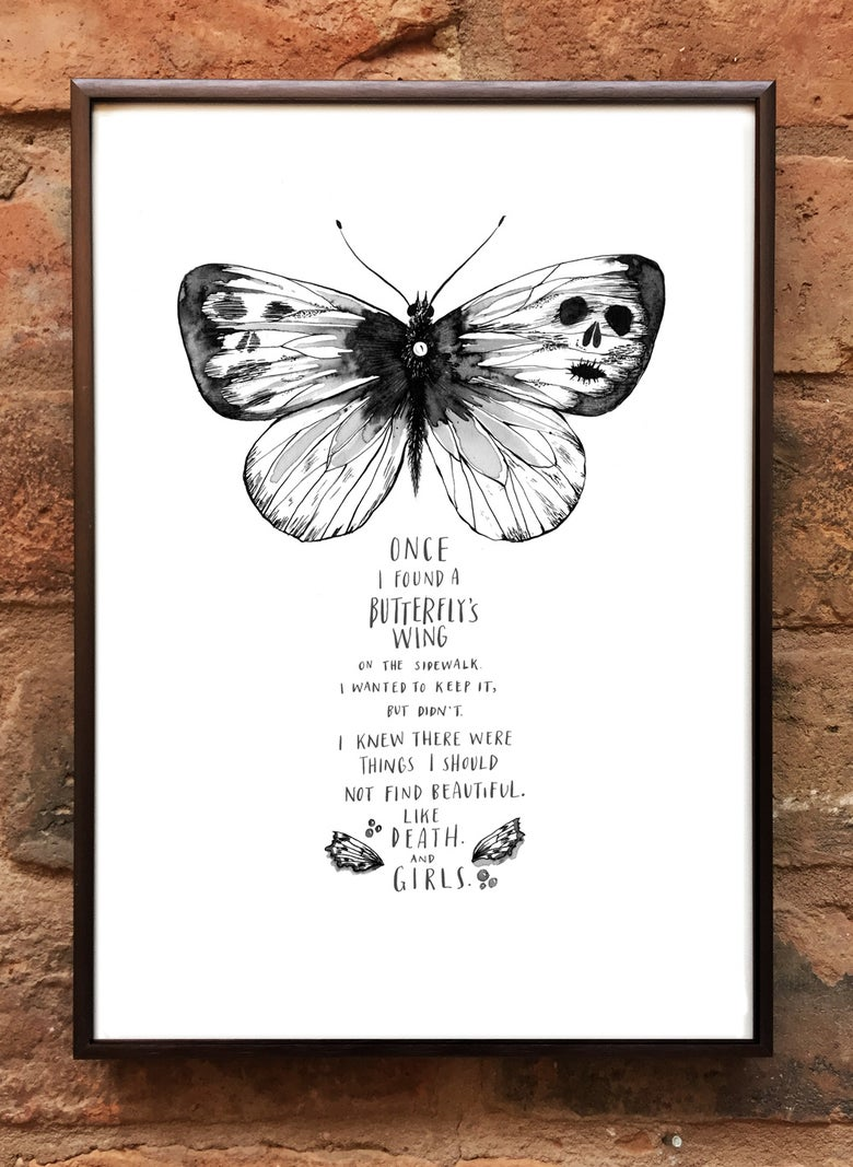Image of Andrea Gibson Print: 'Butterfly' / A4