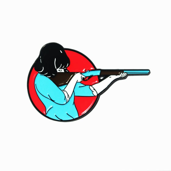 Image of Warm Shotgun pin by Cristina Daura