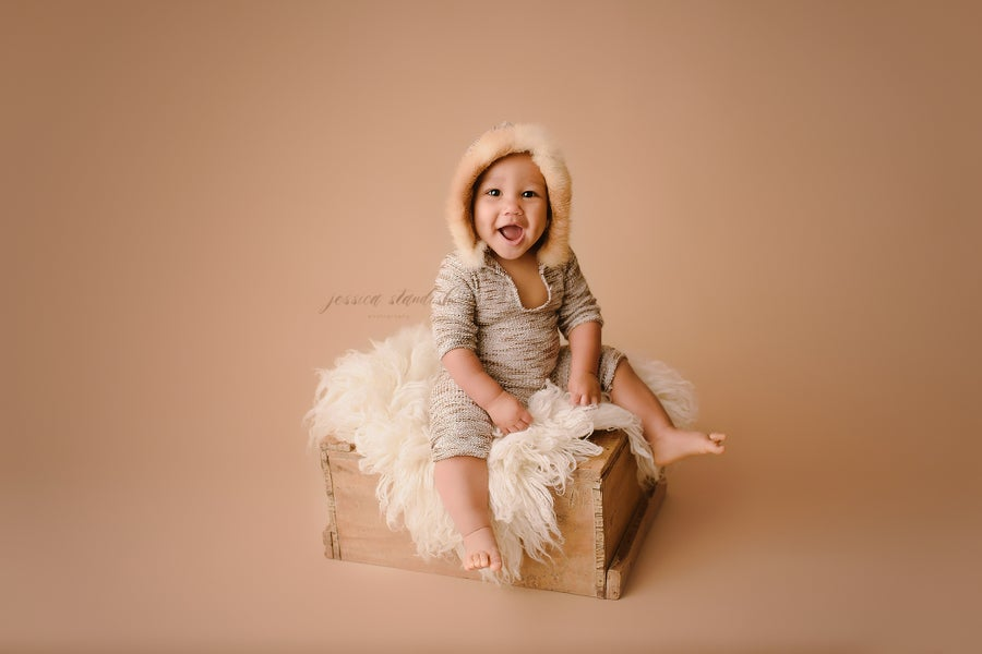 Image of Milestone Session | a neutral baby-only mini-session series