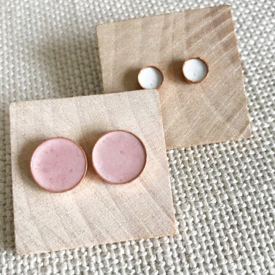 Image of Copper + Cement Studs