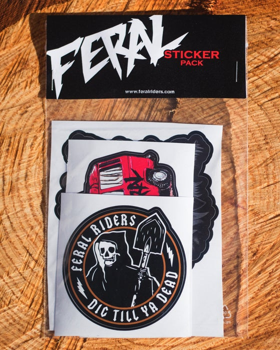 "Image of ""FERAL"" STICKER PACK"