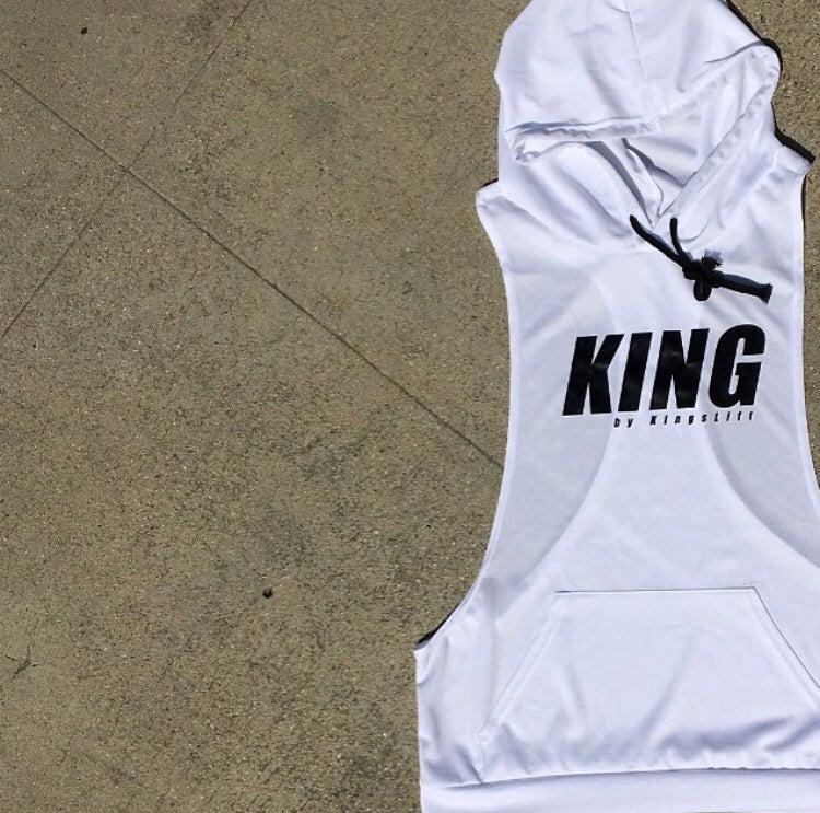 Image of KING by KingsLift™ Hooded Racerback Tank