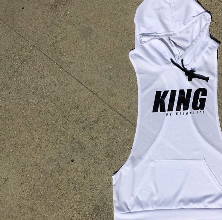 Image of KING by KingsLift™ Hooded Racerback Tank