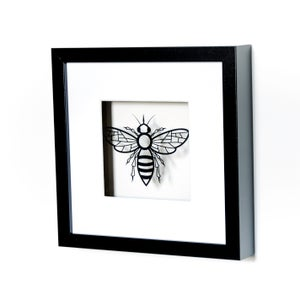 Image of Framed Papercut Bee